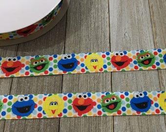 Elmo Ribbon, Sesame Street Ribbon, Big Bird Ribbon, Cookie Monster