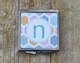 Personalized Custom Photo, Logo, or Design Square Shaped Compact Mirror