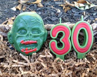 Zombie and Number candles 6.00