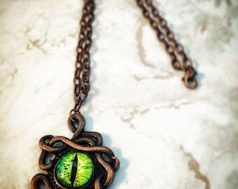 SteamPunk Dragon Eye Necklace