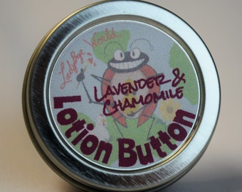 Lotion Button, Solid lotion bar, Chammomile & Lavender Natural lotion with Storage tin
