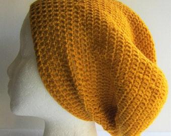 Crown - Crocheted Yellow Beanie Hat