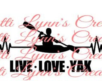 SVG HEARTBEAT KAYAKING (ungrouped so you can use words if you want)