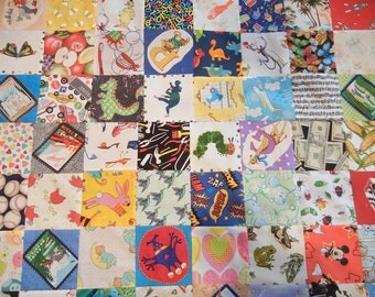 "I Spy Quilt Fabric Charm Pack – 70 Pieces, 5"" Quilt Cotton Novelty Charm Squares – No Duplicates"