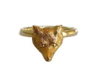 Victorian Gold Fox ring, Fine jewellery, Gift for Her