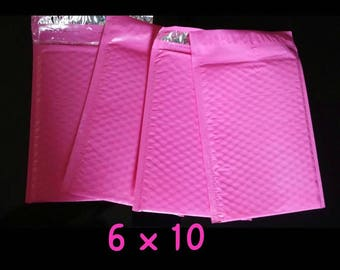 20 Pink 6X10 Bubble Mailers Self Sealing for  items, crafts or anything fragile that fits! Any item that needs extra protection, roomy