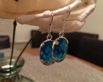 Colorful Blue Dangle Earrings