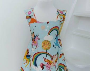 Rainbows and Unicorns Cross Over Tunic