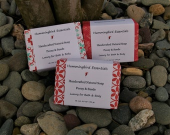 Peony & Suede Handmade Soap