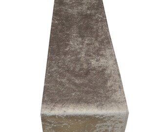 Luxury Crushed velvet Table runners, Bed throws SILVER GREY multiple sizes Weddings, party's