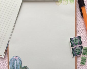 Cacti and Greenery Writing Paper-Stationery-Note Paper