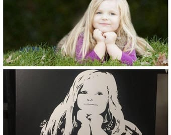 Custom Hand Painted Stencil Portraits