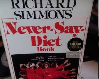 Vintage Richard Simmons Never Say Diet Book paperback