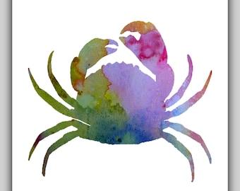 Printable, beach wall art, water color, coastal home decor, coastal watercolor, coastal water color, decor nursery, crab, crabs, download