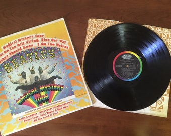 Vintage Vinyl Record of The Beatles Magical Mystery Tour Capital Records 1967 ~ M837