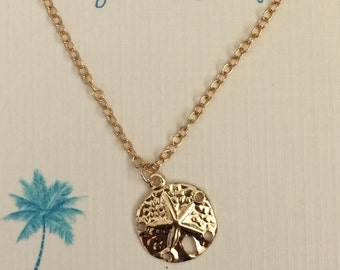 Sand Dollar Necklace - 14kgf