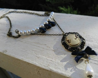 Long Cameo Necklace