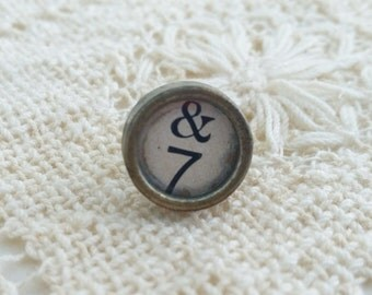 Number Seven Tie Tack, Typewriter Key, Tie Pin, Antique 7 Typewriter Key, Math Teacher Jewelry, Suit Accessory, Gift for Man, Mens Tie Tack