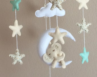 Crib mobile boy,Girl crib mobile,felt mobile,Neutral Baby Mobile,Baby mobile hanging,Baby mobile elephant