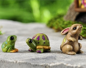 Fairy Garden  - Fairytale Animals Set of 3 - Miniature