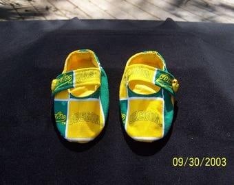 U Of O Ducks Mary Jane Style Baby Booties
