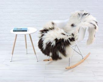 Luxury genuine British sheepskin rug, natural color, 120cm x 70cm, B236