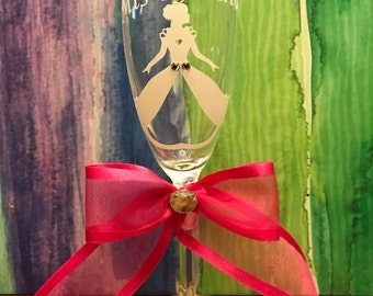 Quinceañera  or Sweet 16 set of champagne glasses.