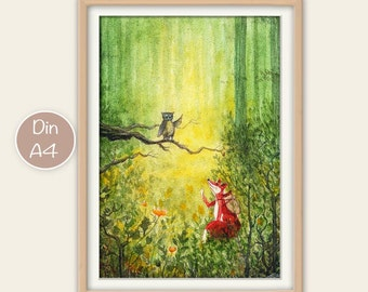 Children posters Fox and OWL