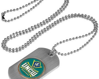 North Carolina Wilmington Seahawks Stainless Steel Dog Tag Necklace