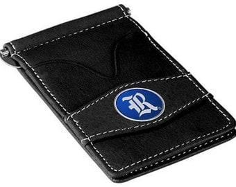 Rice Owls Black Leather Wallet Card Holder