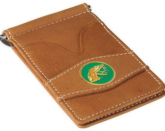 Florida A&M Rattlers Tan Leather Wallet Card Holder