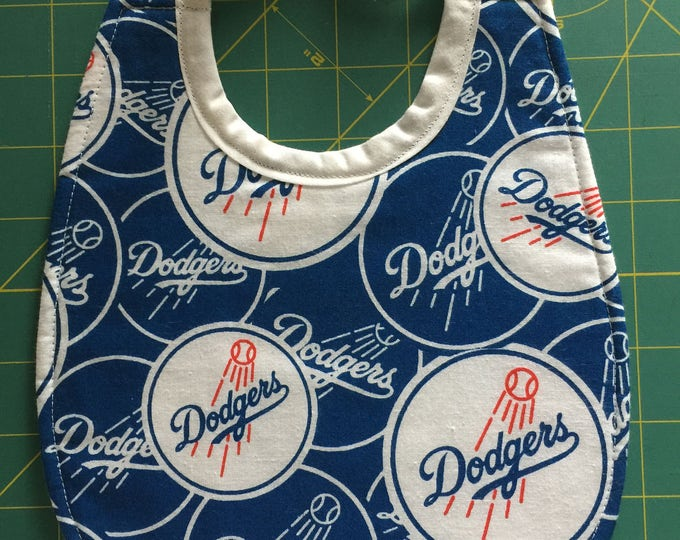 Baby Bib Los Angeles Dodgers Inspired Print Fabric: Choose From 3 Sizes!