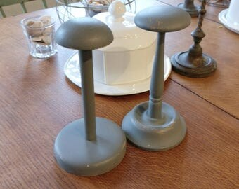 Vintage wig stands. Quirky looking things and make nice unusual vintage decor. (1109)