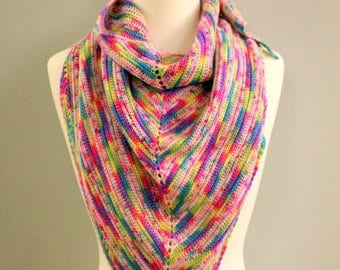Crochet Mythical Zebracorn Shawl Pattern - PDF Download