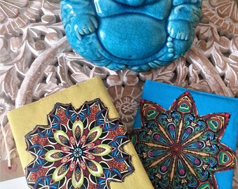 Take note! Embroidered Yoga Journals