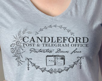 Lark Rise to Candleford T-Shirt on Fitted Crew Neck or VNeck
