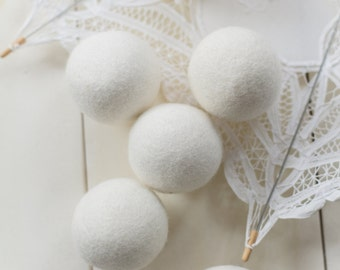 SALE! Premium Wool Dryer Balls Set of 6 XL - 100% Organic New Zealand Wool, All Natural Fabric Softener, Hypoallergenic
