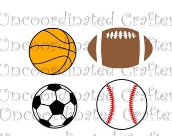 ball set svg// baseball svg// basketball svg// football svg// balls svg// silhouette file// cricut file