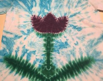 Large  kids purple tulip tye dye hanes tshirt kids Large   Hand tyed tie dye