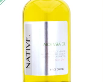 Pure Aloe Vera Oil High Quality Organic Cold Pressed Oil All Natural by Native.