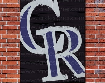 Colorado Rockies Graffiti- Art Print - Perfect for Mancave