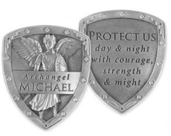Archangel Michael, Archangel Raphael, Archangel Gabriel Pocket Shields