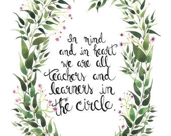 Teachers and Learners in the Circle