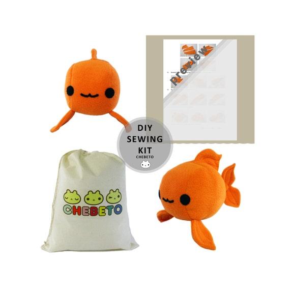 Plush fish sewing kit plush toy sewing kit diy stuffed koi for Koi fish plush