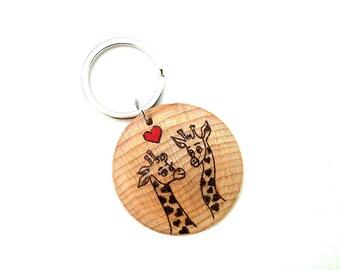 Valentine Gift, Giraffe Keyring, Valentines Day, Animal Keychain, Valentine Gift For Him, Valentines Day Gift, Giraffe Lover Gift