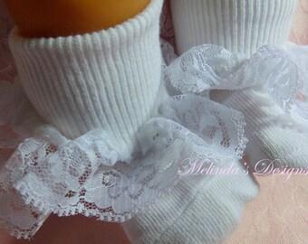 Frilly Socks Easter Socks Lace Socks Infant Socks Ruffled Socks Girls Sock Baby Socks Toddler Socks Valentines Socks Newborn Socks Baby Gift