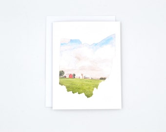 Ohio State Notecards - Blank Notecards - Ohio State Gift - Watercolor Notecards - OSU - Ohip State Art - Gifts Under 15 - Stocking Stuffer