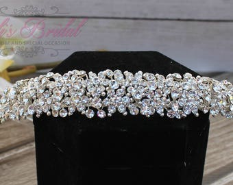 FAST SHIPPING!! Crystal Tiara, Wedding Tiara ,Crown, Princess Tiara, Crystal Headpiece, Corona, XV Tiara