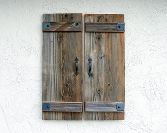 Rustic Shutters. Set of 2. Wooden Door Shutters. Rustic Barn Doors. Farmhouse Decor. Industrial Decor. Rustic Decor. Indoor or Outdoor. L