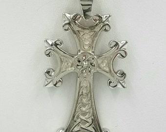 croix pendentif en argent sterling croix celtique avec irlandais trinity signes anniversaire mariage cadeau de fianailles darmnienceltique - Religion Armenienne Mariage